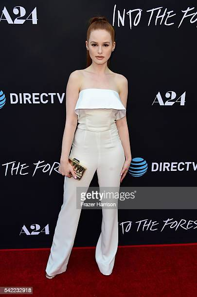 Actress Madelaine Petsch attends A24's 'Into The Forest' premiere at ArcLight Hollywood on June 22 2016 in Hollywood California