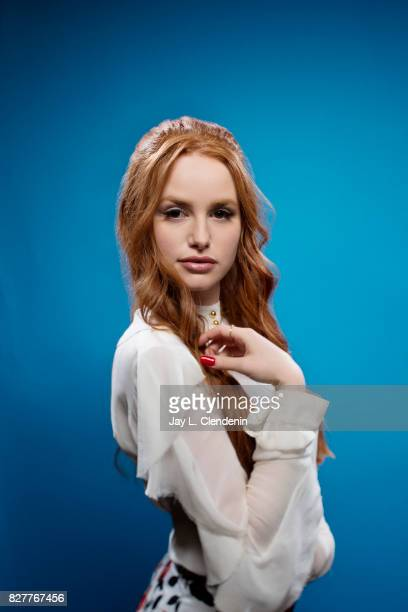 Actress Madelaine Petsch from the television series 'Riverdale' is photographed in the LA Times photo studio at ComicCon 2017 in San Diego CA on July...