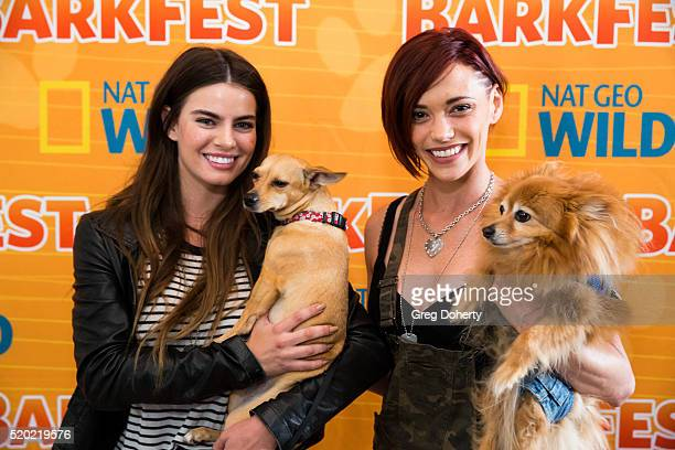 Actress Madeleine Coghlan and Singer J Sutta attend the Barkfest at Palihouse Holloway on April 9 2016 in West Hollywood California