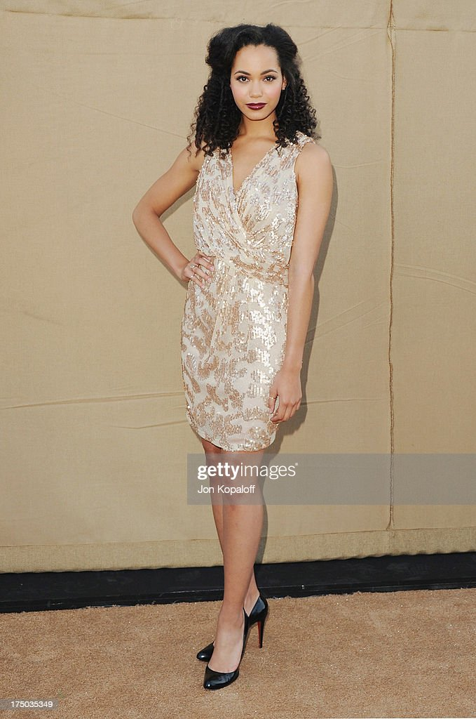 Actress Madeleine Mantock arrives at the 2013 Television Critic Association's Summer Press Tour - CBS, The CW, Showtime Party at The Beverly Hilton Hotel on July 29, 2013 in Beverly Hills, California.