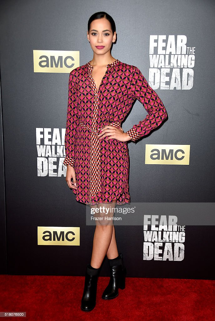 Actress Madeleine Mantock attends the premiere of AMC's 'Fear The Walking Dead' Season 2 at Cinemark Playa Vista on March 29, 2016 in Los Angeles, California.