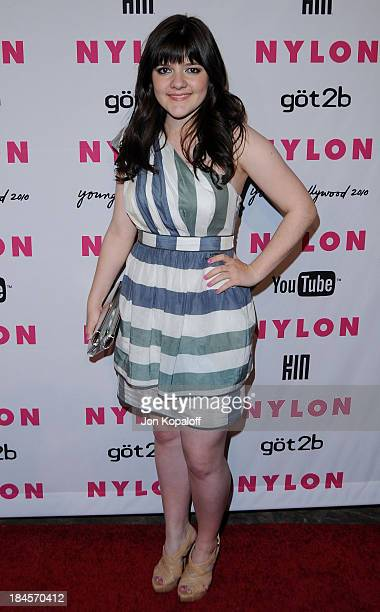 Actress Madeleine Martin arrives at NYLON Magazine's May Issue Young Hollywood Launch Party at The Roosevelt Hotel on May 12 2010 in Hollywood...