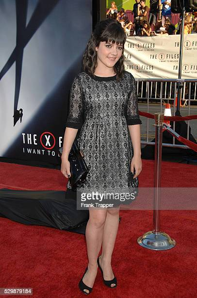 Actress Madeleine Martin arrives at the world premiere of 'XFiles I Want To Believe' held at Grauman's Chinese Theater in Hollywood