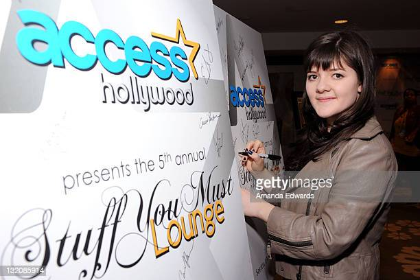 Actress Madeleine Martin attends the Access Hollywood 'Stuff You Must' Lounge produced by On 3 Productions at the Sofitel Hotel on January 15 2011 in...