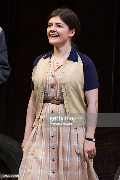 Actress Madeleine Martin during curtain call at 'Picnic' Broadway Opening Night at American Airlines Theatre on January 13 2013 in New York City