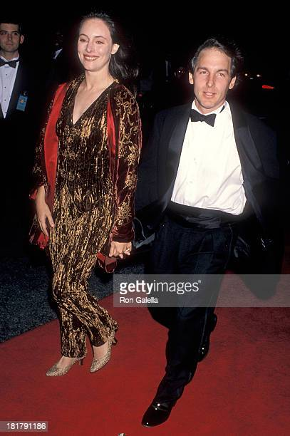 Actress Madeleine Stowe and actor Brian Benben attend the 16th Annual CableACE Awards on January 15 1995 at the Wiltern Theatre in Los Angeles...