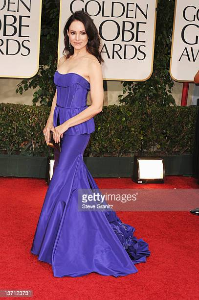 Actress Madeleine Stowe arrives at the 69th Annual Golden Globe Awards held at the Beverly Hilton Hotel on January 15, 2012 in Beverly Hills,...