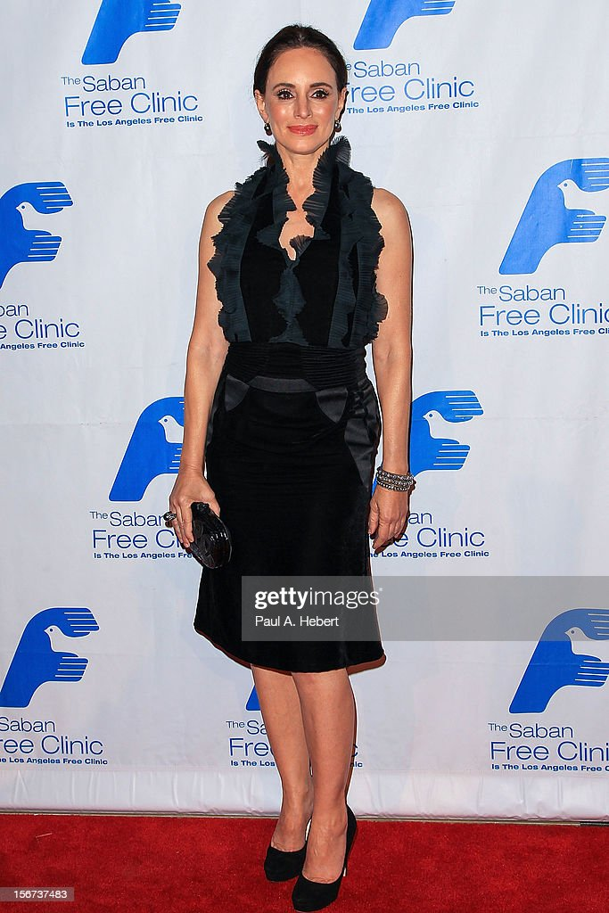 Actress Madeleine Stowe arrives at The Saban Free Clinic's Gala Honoring ABC Entertainment Group President Paul Lee and Bob Broder at The Beverly Hilton Hotel on November 19, 2012 in Beverly Hills, California.