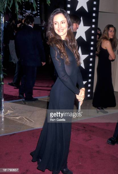 Actress Madeleine Stowe attends the 22nd Annual American Film Institute Lifetime Achievement Award Salute to Jack Nicholson on March 3 1994 at the...