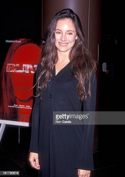 Actress Madeleine Stowe attends the Blink West Hollywood Premiere on January 11 1994 at the DGA Theatre in West Hollywood California