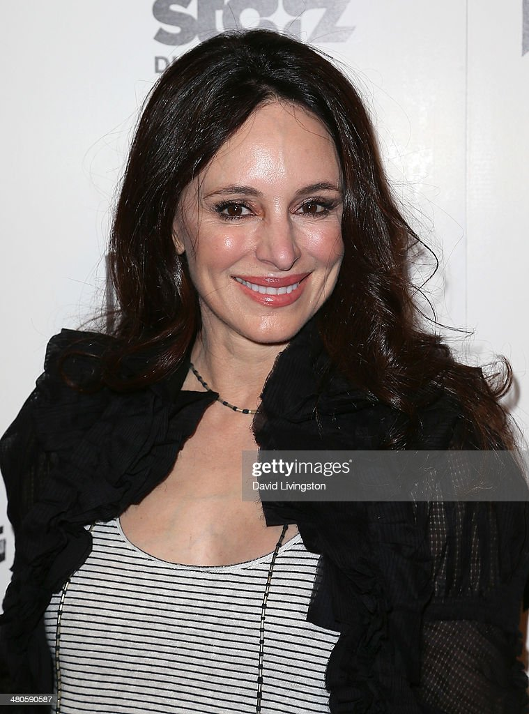 Actress Madeleine Stowe attends the Los Angeles screening of 'Mistaken for Strangers' at The Shrine Auditorium on March 25, 2014 in Los Angeles, California.