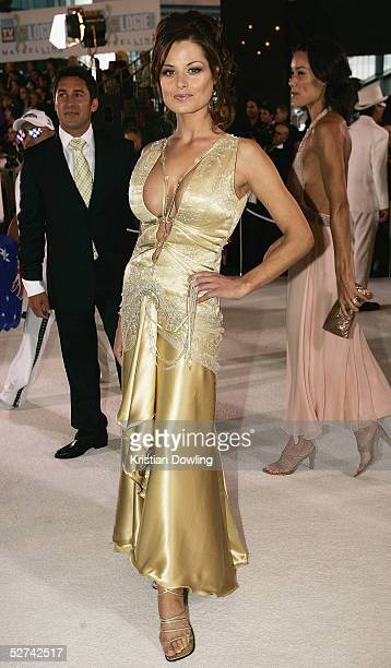 Actress Madeleine West arrives at the 47th Annual TV Week Logie Awards at the Crown Entertainment Complex May 1 2005 in Melbourne Australia