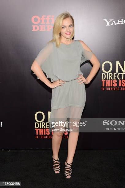 """Actress Madeline Brewer attends the New York premiere of """"One Direction: This Is Us"""" at the Ziegfeld Theater on August 26, 2013 in New York City."""
