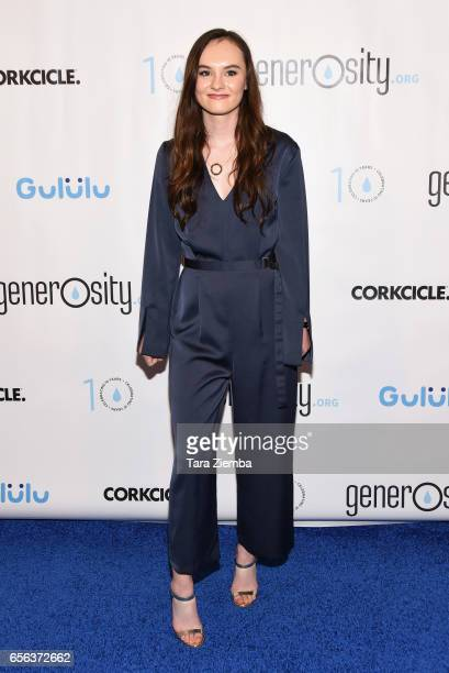 Actress Madeline Carroll attends a Generosityorg fundraiser for World Water Day at Montage Hotel on March 21 2017 in Beverly Hills California