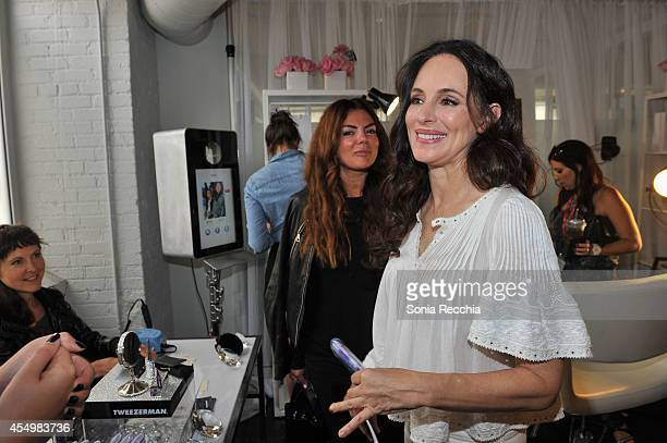 Actress Madeline Stowe attends the NKPR IT Lounge Portrait Studio With W Magazine Day 3 during the 2014 Toronto International Film Festival at NKPR...