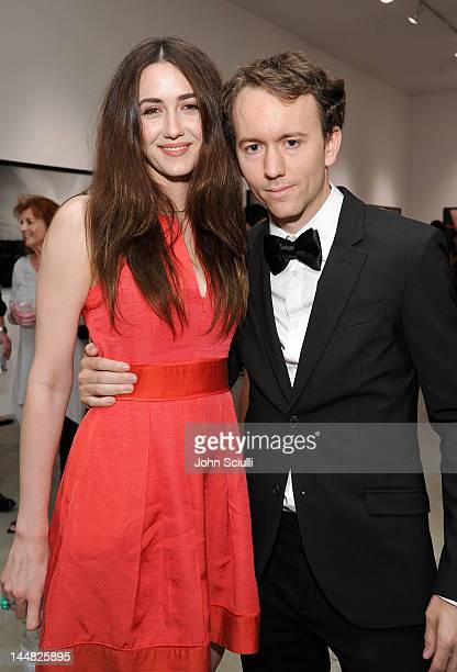Actress Madeline Zima and artist Tyler Shields attend Tyler Shields debut of MOUTHFUL presented by A/X Armani Exchange in support of LOVE IS LOUDER...