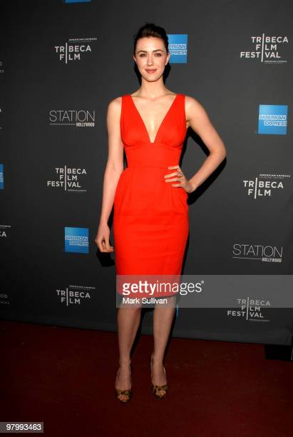 Actress Madeline Zima arrives at 2010 Tribeca Film Festival program and launch party at W Hollywood on March 23 2010 in Hollywood California