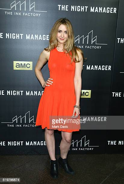 Actress Madeline Zima attends the premiere of AMC's 'The Night Manager' at DGA Theater on April 5 2016 in Los Angeles California