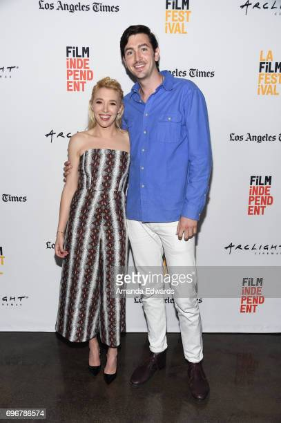 Actress Madelyn Deutch and actor Nicholas Braun attend the 2017 Los Angeles Film Festival premiere of 'The Year Of Spectacular Men' at ArcLight Santa...
