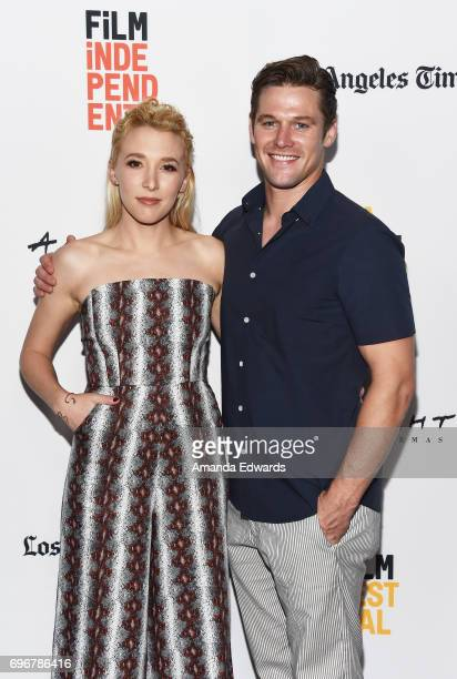 Actress Madelyn Deutch and actor Zach Roerig attend the 2017 Los Angeles Film Festival premiere of 'The Year Of Spectacular Men' at ArcLight Santa...