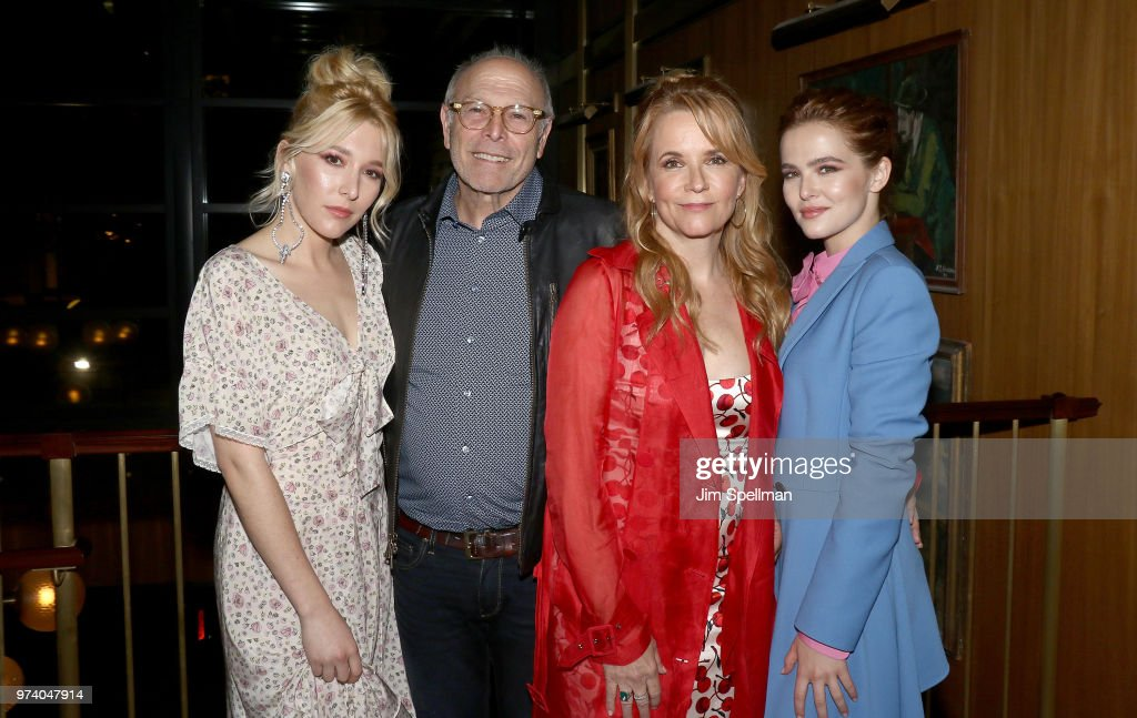 Actress Madelyn Deutch, producer Howard Deutch, director/actress Lea Thompson and actress Zoey Deutch attend the screening after party for 'The Year Of Spectacular Men' hosted by MarVista Entertainment and Parkside Pictures with The Cinema Society at Legacy Records on June 13, 2018 in New York City.