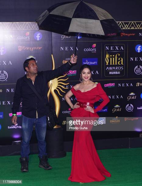 Actress Madhuri Dixit attend the 20th IIFA award on September 18 2019 in Mumbai India