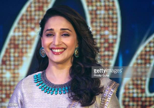 Actress Madhuri Dixit attends the press conference for reality TV show Dance Dewana on May 27 2019 in Mumbai India