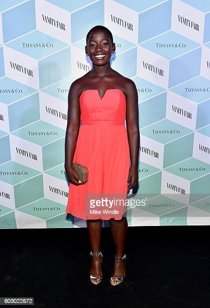 Actress Madina Nalwanga attends the Vanity Fair and Tiffany Co private dinner toasting Lupita Nyong'o and celebrating Legendary Style at ShangriLa...