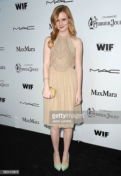 Actress Madisen Beaty attends the 6th annual Women In Film preOscar cocktail party at Fig Olive Melrose Place on February 22 2013 in West Hollywood...