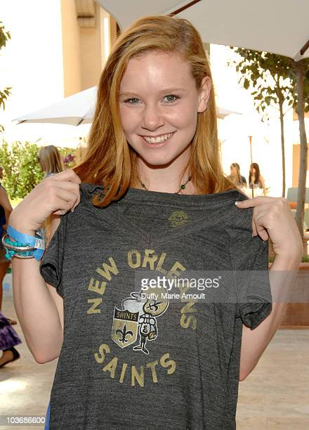 Actress Madisen Beaty poses at Retro Sport booth during Kari Feinstein Primetime Emmy Awards Style Lounge Day 2 held at Montage Beverly Hills hotel...