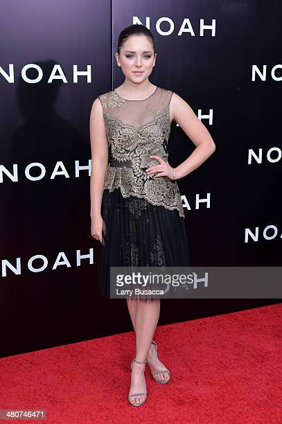 Actress Madison Davenport attends the New York premiere of Paramount Pictures' Noah at the Ziegfeld Theatre on March 26 2014 in New York City