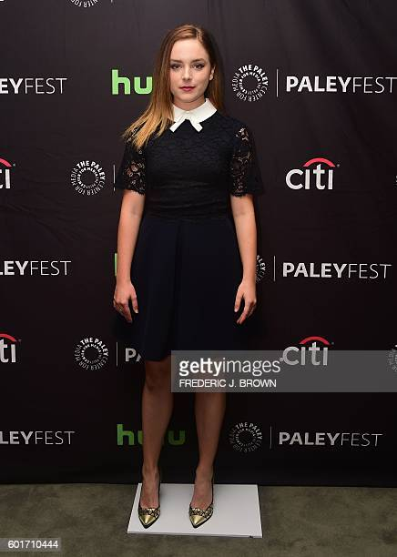 Actress Madison Davenport from the movie 'From Dusk Till Dawn' poses on arrival for the Paley Center For Media 's 10th annual PaleyFest fall TV...