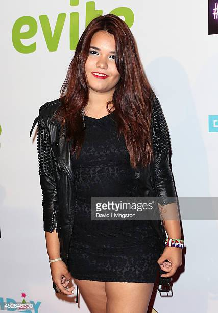 Actress Madison De La Garza attends actress Madison Pettis' Sweet 16 Birthday Party at the Emerson Theatre on July 24 2014 in Hollywood California