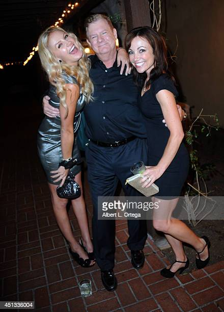 Actress Madison Dylan producer Len McLeod and actress Christine Donlon attend the After Party for the 40th Annual Saturn Awards held at on June 26...