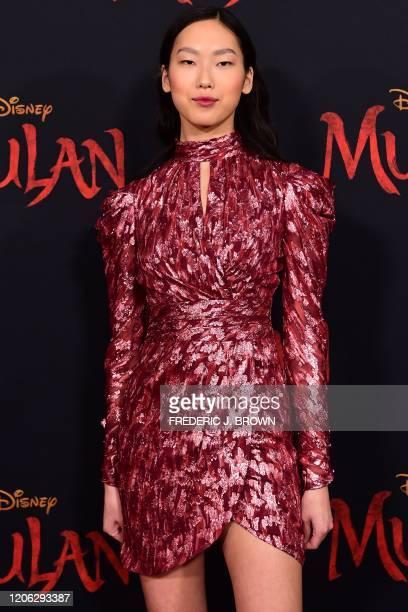 US actress Madison Hu attends the world premiere of Disney's Mulan at the Dolby Theatre in Hollywood on March 9 2020