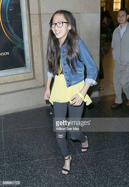 Actress Madison Hu is seen on June 8 2016 in Los Angeles California