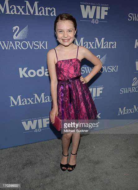 Actress Madison Moellers attends Women In Film's 2013 Crystal Lucy Awards at The Beverly Hilton Hotel on June 12 2013 in Beverly Hills California