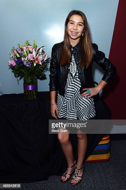 Actress Madison Outhier attends special screening and QA of The Judge and To Kill A Mockingbird with Robert Duvall at Aero Theatre on February 12...