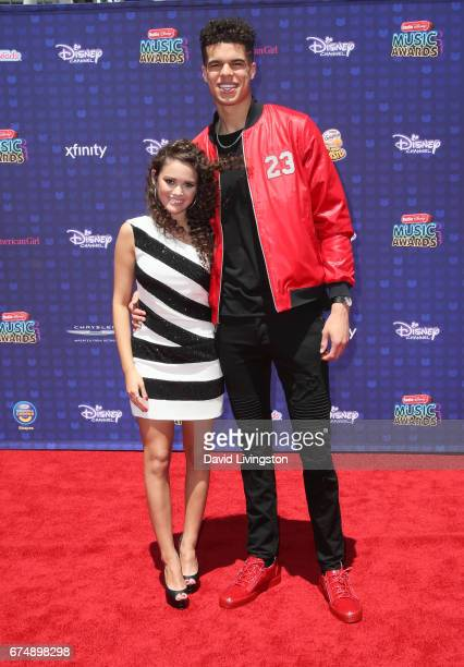Actress Madison Pettis and basketball player Michael Porter Jr attend the 2017 Radio Disney Music Awards at Microsoft Theater on April 29 2017 in Los...