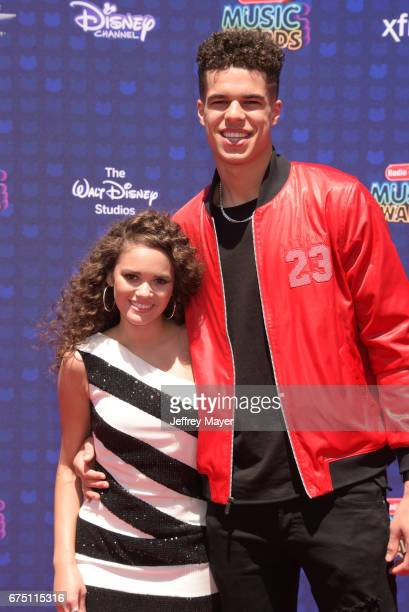 Actress Madison Pettis and NBA player Michael Porter Jr attend the 2017 Radio Disney Music Awards at Microsoft Theater on April 29 2017 in Los...
