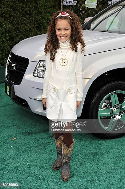Actress Madison Pettis arrives at Chevy Rocks The Future at the Buena Vista Lot at The Walt Disney Studios on February 19 2008 in Burbank California