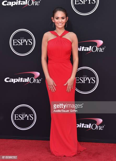 Actress Madison Pettis arrives at the 2017 ESPYS at Microsoft Theater on July 12 2017 in Los Angeles California