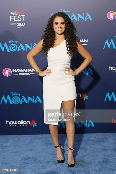Actress Madison Pettis arrives at the AFI FEST 2016 presented by Audi premiere of Disney's Moana held at the El Capitan Theatre on November 14 2016...