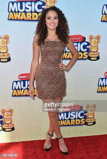 Actress Madison Pettis arrives to the 2013 Radio Disney Music Awards at Nokia Theatre LA Live on April 27 2013 in Los Angeles California