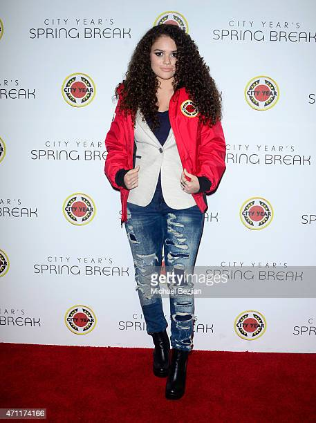 Actress Madison Pettis attends City Year Los Angeles Spring Break at Sony Studios on April 25 2015 in Los Angeles California