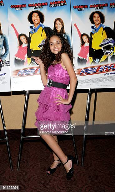Actress Madison Pettis attends>> the Free Style premiere at the Chelsea Clearview Cinema 9 on September 24 2009 in New York City