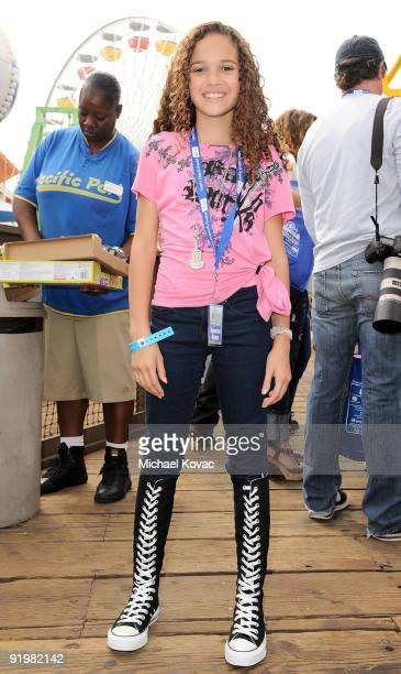 Actress Madison Pettis attends the Mattel And Children's Hospital UCLA's Party On The Pier at Santa Monica Pier on October 18 2009 in Santa Monica...