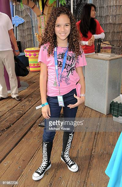 Actress Madison Pettis attends the Mattel And Children's Hospital UCLA's ''Party On The Pier'' at Santa Monica Pier on October 18 2009 in Santa...