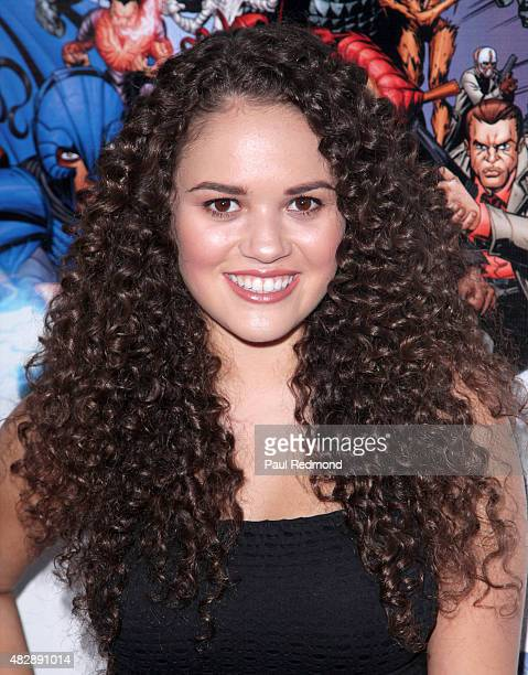 Actress Madison Pettis attends the premiere of Legend Of The Mantamaji at Harmony Gold on August 3 2015 in Los Angeles California