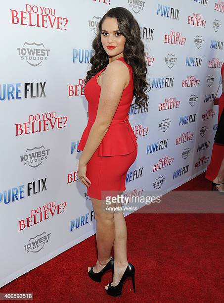 Actress Madison Pettis attends the Premiere of Pure Flix's Do You Believe at ArcLight Hollywood on March 16 2015 in Hollywood California